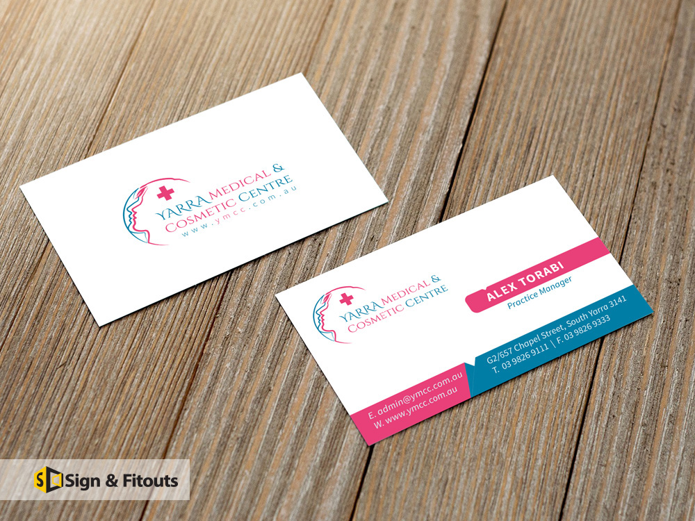 Business cards sign and fitouts business card signs in melbourne home reheart Image collections