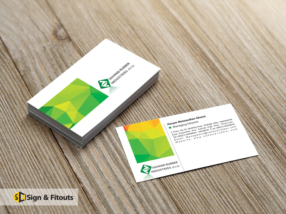 Business card signs