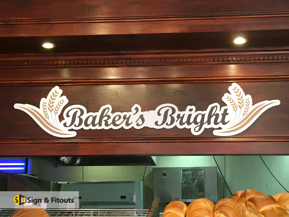 3D Lettering Bakers Bright