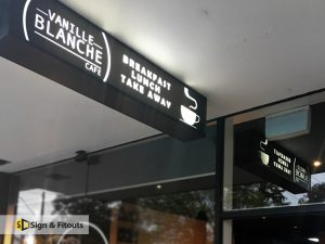 Rectangular Light Box Sign Vanille Blanche