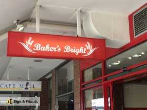Rectangular Light Box Sign Bakers Bright