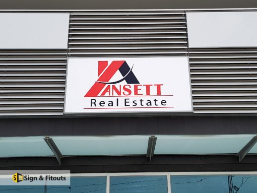 Rectangular Light Box Sign Ansett