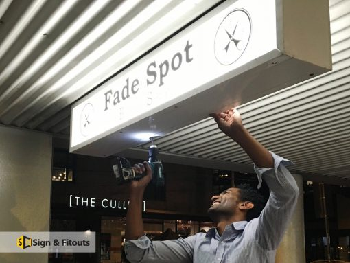Light box signs Fade Spot