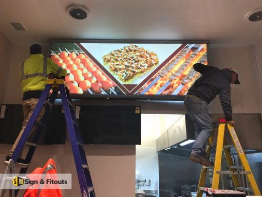 Light box signs Installation