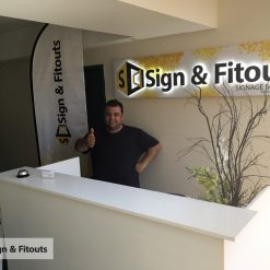 Reception signs - Signage Melbourne - Custom sign - 3D signs - Office sign - 3D lettering - Sign and Fitouts