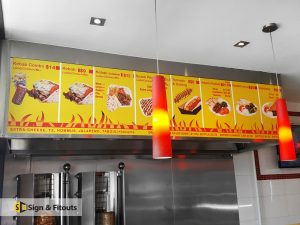 Shop signs installer