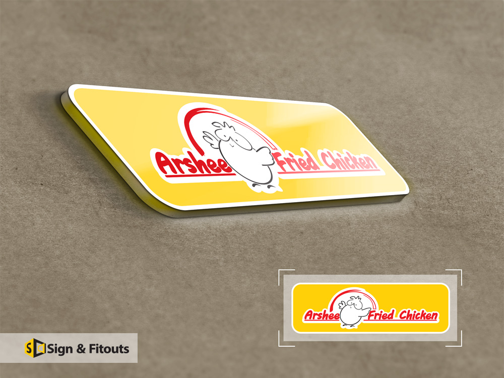 Logo Design Arshee Fried chicken