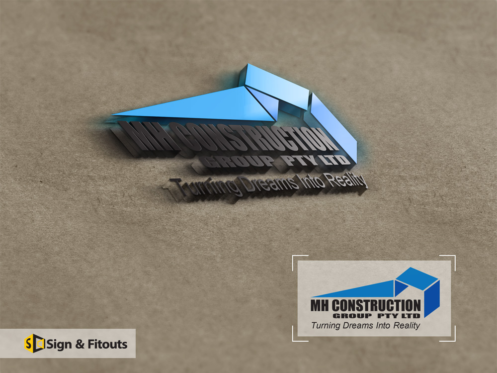 Logo Design MH Construction