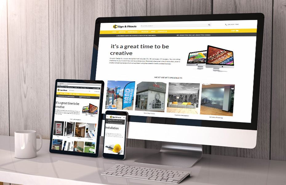 Sign And Fitouts new website
