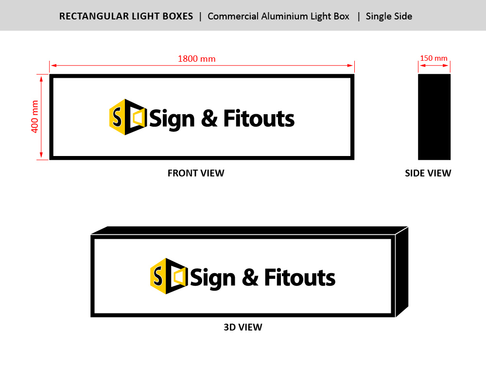 The Rectangular Sign Size