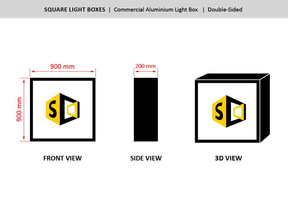 The Square Sign Size
