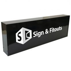 Rectangular Sign Dark- Signage Melbourne - Custom sign - Sign maker - Sign writing - Sign and Fitouts