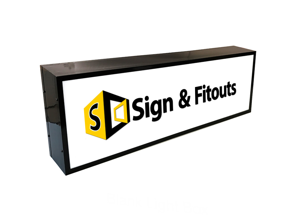 Single Sided Rectangular Light Box Sign Sign And Fitouts